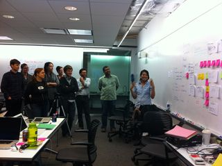 Presenting the results of brainstorming